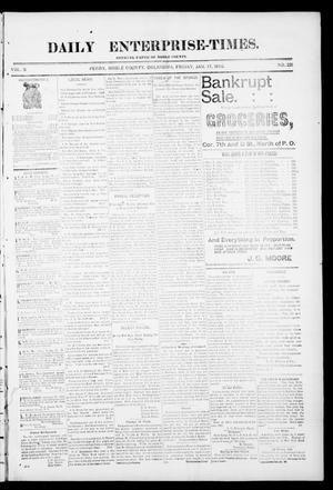 Daily Enterprise-Times. (Perry, Okla.), Vol. 1, No. 221, Ed. 1 Friday, January 17, 1896