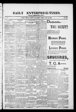 Daily Enterprise-Times. (Perry, Okla.), Vol. 1, No. 227, Ed. 1 Friday, January 24, 1896