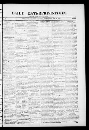 Primary view of object titled 'Daily Enterprise-Times. (Perry, Okla.), Vol. 1, No. 231, Ed. 1 Wednesday, January 29, 1896'.