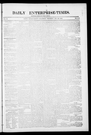 Primary view of object titled 'Daily Enterprise-Times. (Perry, Okla.), Vol. 1, No. 232, Ed. 1 Thursday, January 30, 1896'.