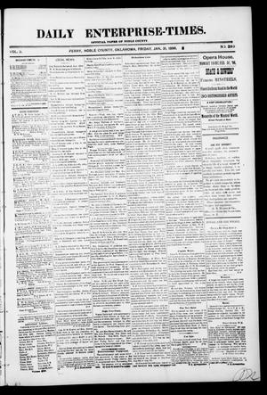 Primary view of object titled 'Daily Enterprise-Times. (Perry, Okla.), Vol. 1, No. 233, Ed. 1 Friday, January 31, 1896'.