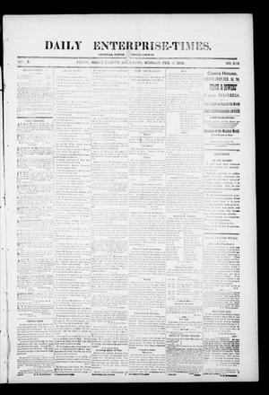 Primary view of object titled 'Daily Enterprise-Times. (Perry, Okla.), Vol. 1, No. 235, Ed. 1 Monday, February 3, 1896'.