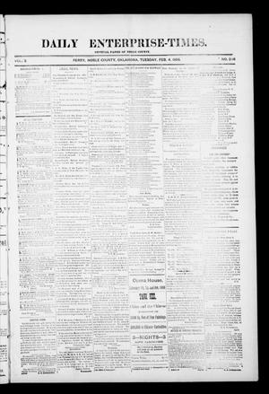 Primary view of object titled 'Daily Enterprise-Times. (Perry, Okla.), Vol. 1, No. 236, Ed. 1 Tuesday, February 4, 1896'.