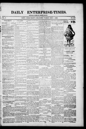 Daily Enterprise-Times. (Perry, Okla.), Vol. 3, No. 260, Ed. 1 Tuesday, March 3, 1896