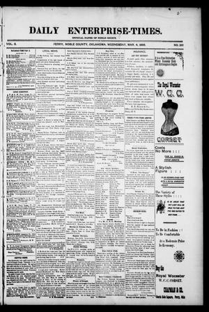 Daily Enterprise-Times. (Perry, Okla.), Vol. 3, No. 261, Ed. 1 Wednesday, March 4, 1896