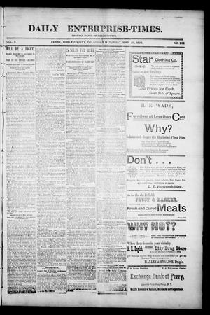 Primary view of object titled 'Daily Enterprise-Times. (Perry, Okla.), Vol. 3, No. 282, Ed. 1 Saturday, March 28, 1896'.