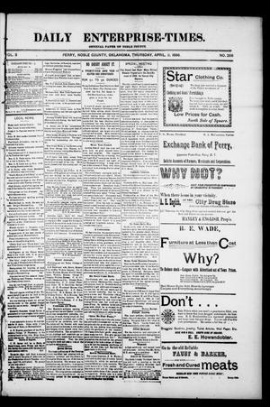 Daily Enterprise-Times. (Perry, Okla.), Vol. 3, No. 286, Ed. 1 Thursday, April 2, 1896