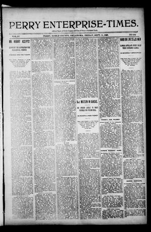 Perry Enterprise-Times. (Perry, Okla.), Vol. 4, No. 111, Ed. 1 Friday, September 11, 1896