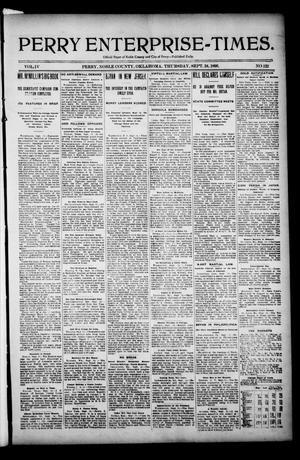 Primary view of Perry Enterprise-Times. (Perry, Okla.), Vol. 4, No. 122, Ed. 1 Thursday, September 24, 1896