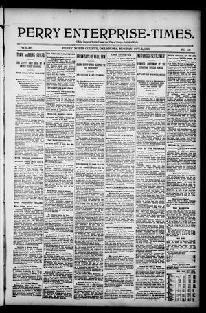 Perry Enterprise-Times. (Perry, Okla.), Vol. 4, No. 131, Ed. 1 Monday, October 5, 1896