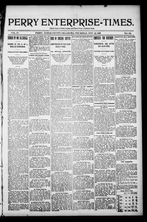 Perry Enterprise-Times. (Perry, Okla.), Vol. 4, No. 164, Ed. 1 Thursday, November 12, 1896