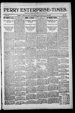 Perry Enterprise-Times. (Perry, Okla.), Vol. 4, No. 177, Ed. 1 Saturday, November 28, 1896