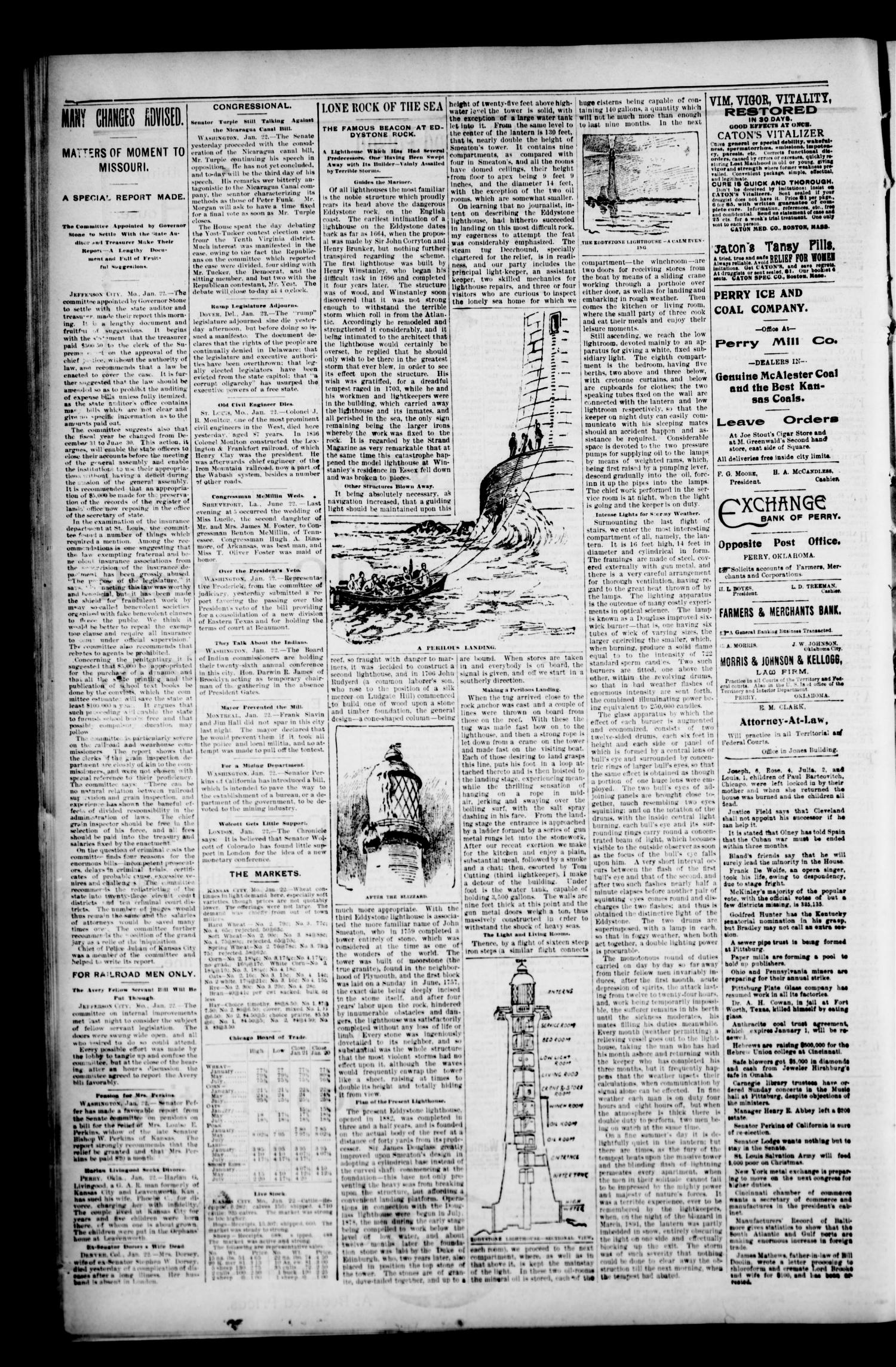 Perry Enterprise-Times. (Perry, Okla.), Vol. 4, No. 225, Ed. 1 Friday, January 22, 1897                                                                                                      [Sequence #]: 4 of 4