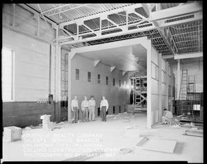 Primary view of object titled 'Interior During Construction of Fruehauf Realty Company Sales and Service Branch in Oklahoma City, Oklahoma'.