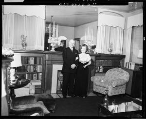 Primary view of object titled 'Gen. and Mrs. Key at Home in Oklahoma City, Oklahoma'.