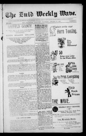 The Enid Weekly Wave. (Enid, Okla. Terr.), Vol. 7, No. 3, Ed. 1 Thursday, January 18, 1900
