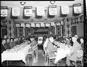 Primary view of object titled 'Oliver Corporation Banquet at Skirvin Hotel'.