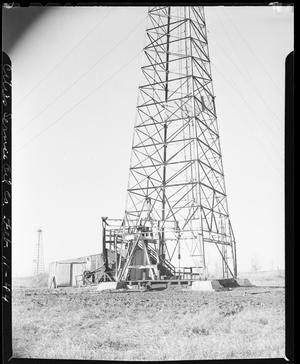 Primary view of object titled 'Oil Well Derrick and Pump House'.