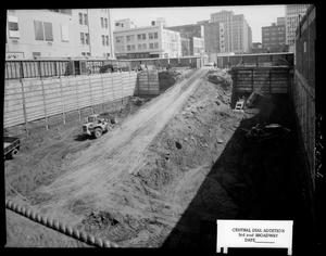 Primary view of object titled 'Construction Area of the Southwestern Bell Telephone Central Dial Addition in Oklahoma City, Oklahoma'.