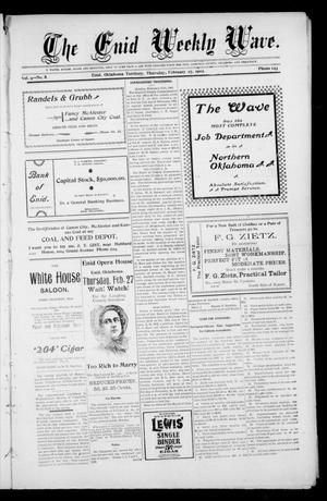 The Enid Weekly Wave. (Enid, Okla. Terr.), Vol. 9, No. 8, Ed. 1 Thursday, February 27, 1902