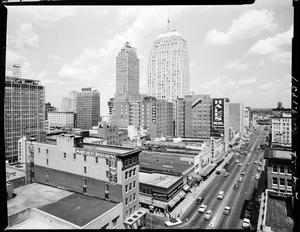 Primary view of object titled 'Skyline of Oklahoma City, Oklahoma in 1957'.