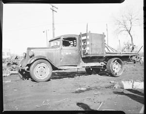 Primary view of object titled 'Flat Bed Truck'.