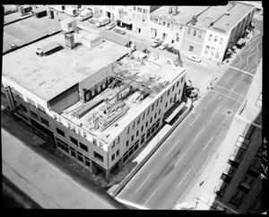 Primary view of object titled 'Tearing Down the Local Federal Savings and Loan Association Building in Oklahoma City, Oklahoma'.