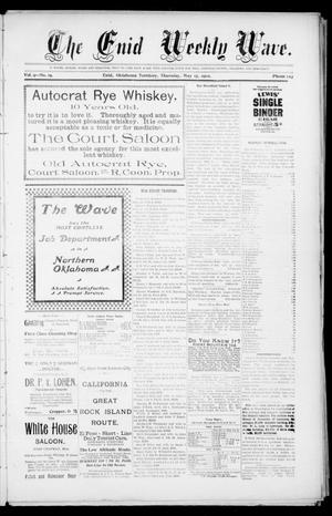 The Enid Weekly Wave. (Enid, Okla. Terr.), Vol. 9, No. 19, Ed. 1 Thursday, May 15, 1902
