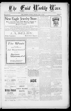 The Enid Weekly Wave. (Enid, Okla. Terr.), Vol. 9, No. 20, Ed. 1 Thursday, May 22, 1902