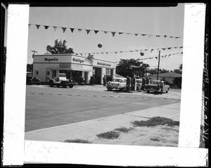 Primary view of object titled 'Mobil gas Station in Bethany, Oklahoma'.