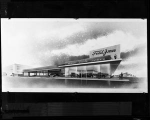 Primary view of object titled 'Fred Jones Mercury Lincoln Continental Dealership Rendering'.