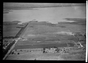 Primary view of object titled 'Aerial View of Wiley Post Airport in Oklahoma City, Oklahoma'.