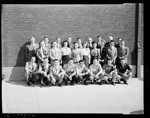 Primary view of object titled 'Group of People in front of Graybar Electric in Oklahoma City, Oklahoma'.