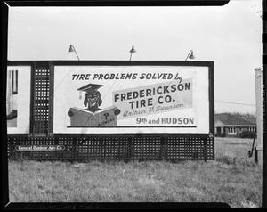 Primary view of object titled 'Frederickson Tire Company Billboard'.