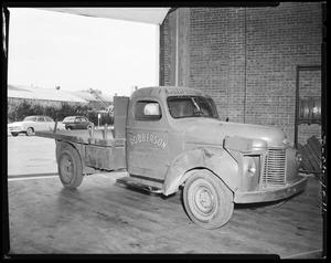 Primary view of object titled 'Robberson Steel Company Truck in Oklahoma City, Oklahoma'.