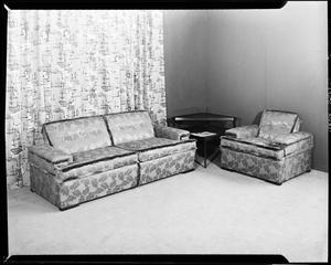 Primary view of object titled 'Sofa and Chair Display for  Dulaney's Distributing Company in Oklahoma City, Oklahoma'.