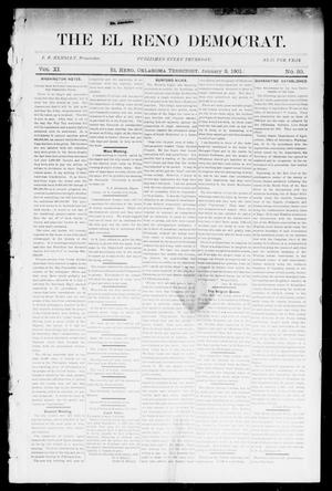 Primary view of object titled 'The El Reno Democrat. (El Reno, Okla. Terr.), Vol. 6, No. 50, Ed. 1 Thursday, January 3, 1901'.