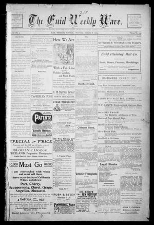 The Enid Weekly Wave. (Enid, Okla. Terr.), Vol. 9, No. 1, Ed. 1 Thursday, January 8, 1903