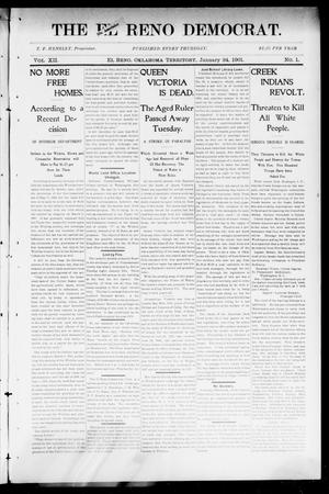 Primary view of object titled 'The El Reno Democrat. (El Reno, Okla. Terr.), Vol. 7, No. 1, Ed. 1 Thursday, January 24, 1901'.