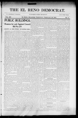 Primary view of object titled 'The El Reno Democrat. (El Reno, Okla. Terr.), Vol. 7, No. 6, Ed. 1 Thursday, February 28, 1901'.