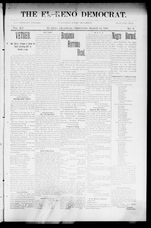 Primary view of object titled 'The El Reno Democrat. (El Reno, Okla. Terr.), Vol. 7, No. 8, Ed. 1 Thursday, March 14, 1901'.