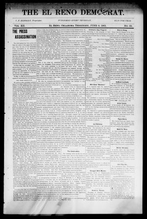 Primary view of object titled 'The El Reno Democrat. (El Reno, Okla. Terr.), Vol. 7, No. 19, Ed. 1 Thursday, June 6, 1901'.