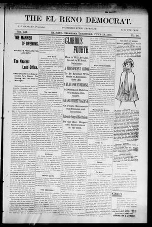 Primary view of object titled 'The El Reno Democrat. (El Reno, Okla. Terr.), Vol. 7, No. 20, Ed. 1 Thursday, June 13, 1901'.
