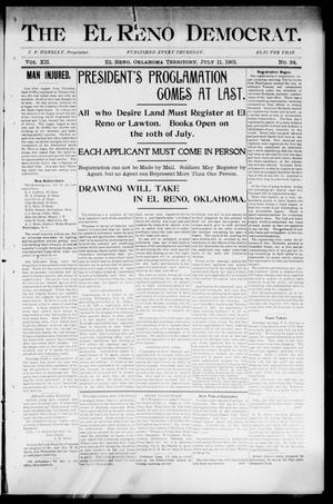 Primary view of object titled 'The El Reno Democrat. (El Reno, Okla. Terr.), Vol. 7, No. 24, Ed. 1 Thursday, July 11, 1901'.