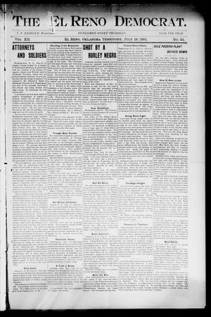 The El Reno Democrat. (El Reno, Okla. Terr.), Vol. 7, No. 25, Ed. 1 Thursday, July 18, 1901