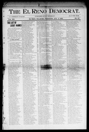 Primary view of object titled 'The El Reno Democrat. (El Reno, Okla. Terr.), Vol. 7, No. 27, Ed. 1 Friday, August 2, 1901'.