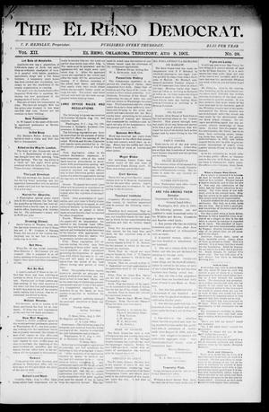 Primary view of object titled 'The El Reno Democrat. (El Reno, Okla. Terr.), Vol. 7, No. 28, Ed. 1 Thursday, August 8, 1901'.