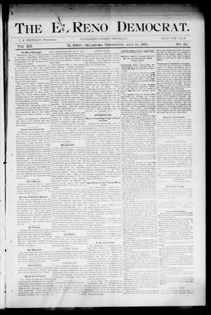 Primary view of object titled 'The El Reno Democrat. (El Reno, Okla. Terr.), Vol. 7, No. 29, Ed. 1 Thursday, August 15, 1901'.