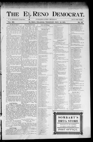Primary view of object titled 'The El Reno Democrat. (El Reno, Okla. Terr.), Vol. 7, No. 33, Ed. 1 Thursday, September 12, 1901'.