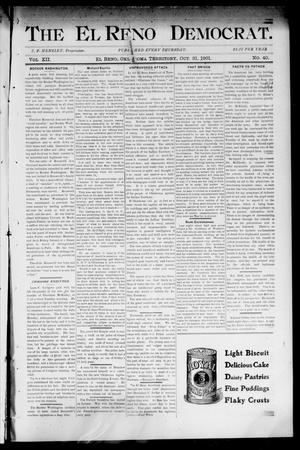 Primary view of object titled 'The El Reno Democrat. (El Reno, Okla. Terr.), Vol. 7, No. 40, Ed. 1 Thursday, October 31, 1901'.